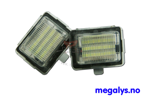 LED Skiltlys Mercedes C E S Klasse W204 W212 W221